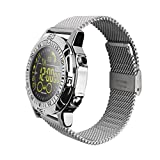 GXY Intelligente Uhr Militär Outdoor-Sport Metall Shell Telefon Informationen Erinnerung Wasserdicht Smart Uhr (Farbe : Weiß)