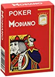 Modiano Texas Poker 4 Jumbo Index rosso - Carte da gioco Texas Poker