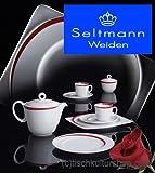Seltmann Weiden Paso Bossa Nova Kaffeeservice Eckig 20-tlg. H23627