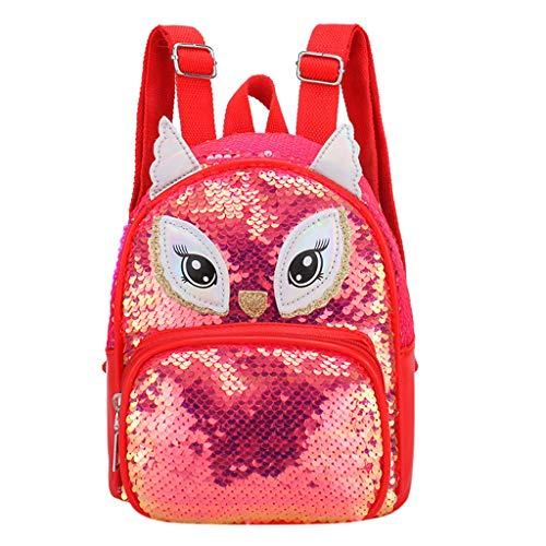 Damen-nieten-satchel (Damen Unisex Student Schulrucksack Rucksack Backpack Schultasche handbag, Student Kinder Mädchen Cartoon Pailletten Satchel Travel Umhängetasche)