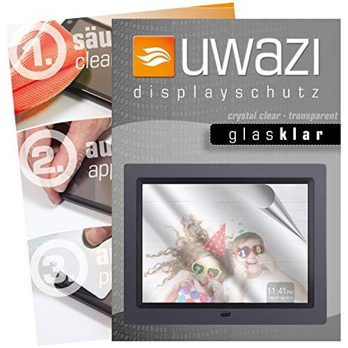 uwazi 3X Schutzfolie passend für Apeman 8 Zoll HD Displayschutzfolie Glas-klar Folie