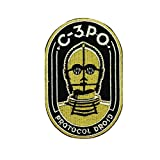 Patch Nation c3-po Iron On Sew on embroidered Kids Fancy Dress Cosplay patch