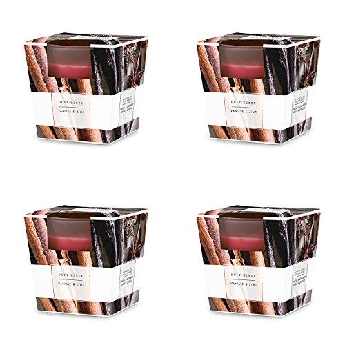 chten im satinierten Glas in edler pajoma Geschenkverpackung (Vanille & Zimt) (Duftkerzen Weihnachten)