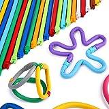 Peradix Steckspiel Bastelset Kinder Steckspielzeug Weiche Flexibel Verdrehbare Bunte Verriegelte Stöcke DIY 109 PCs mit Aufbewahrungsbeutel