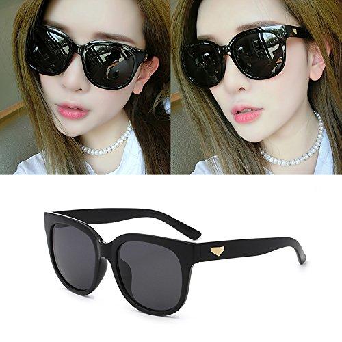 sonnenbrille, frauen - sterne, brille, männer - runde gesichter, koreanische augen, neue runde, elegant, polarisierenden sonnenbrillen,black box (bag) grauen film