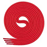 Chaussures de sport pour enfant Di Ficchiano de qualité, 100% polyester, avec lacets ronds, diamètre d'environ 4,5mm, (70-220 cm) - Rouge - Rot, 150 cm