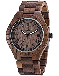 amazon co uk uwood watches uwood walnut wood watch big size men wooden watch vintage retro style