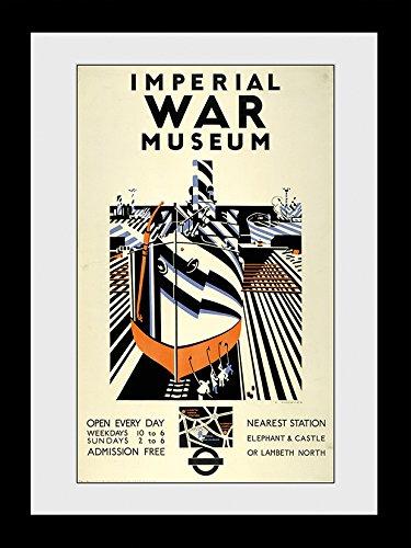GB Eye Ltd Transport for London, Imperial War Museum, encadrée, 60 x 80 cm, Bois, différents, 64 x 84 x 3 cm