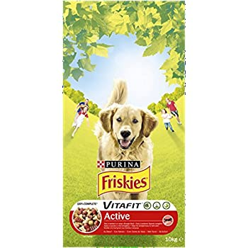 Friskies Vitafit Active : au B½uf- 10 KG -Croquettespour Chien Adulte