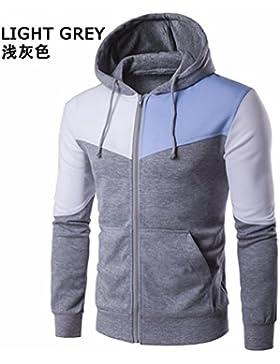 Los miembros de la chaqueta para otoño e invierno por hombres golpeó la tapa de color costuras jersey chaqueta...
