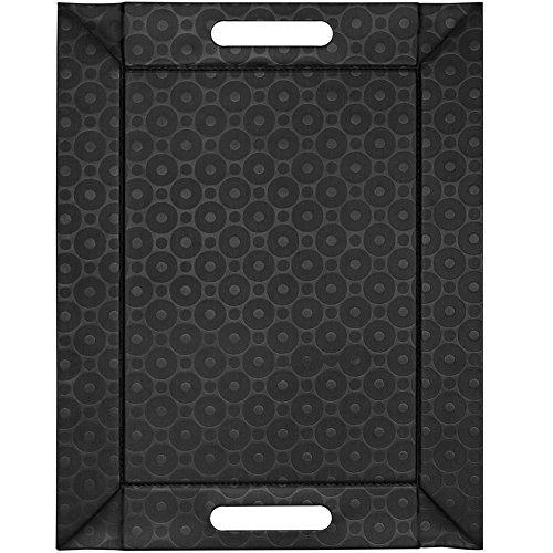 FreeForm Plateau Réversible avec Cercles, Noir, 55 x 41 cm