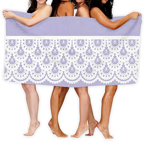 Socksforu Badetuch Weißer Schädel Spitze Weiches, leichtes Saugmittel für das Bad Schwimmbad Yoga Pilates Picknickdecke Handtücher