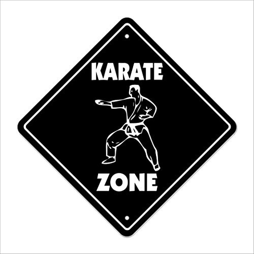 SignMission Karate Crossing Sign Zone Xing |-| 30,5 cm Hoch Patches Kick Gee Gürtel Matte Class Uniform - Tae-kwon-do Martial-arts-uniformen
