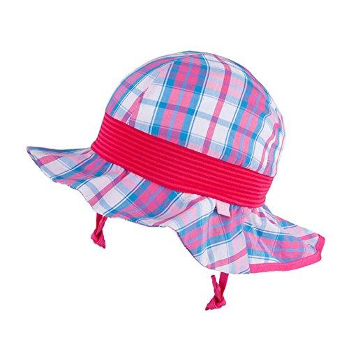 Galeja TuTu by Mädchen Sommerhut UV Schutz 50+ mit Nackenschutz Sonnenhut Gr. 48/50 Rosa Mädchenmütze - Rosa Cowgirl