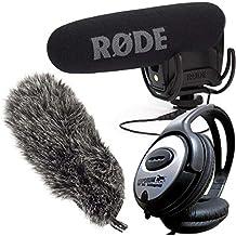 Rode VideoMic Pro Rycote Videocámara Cámara Micrófono + DEADCAT vmpr Wind Protección + Auriculares Keepdrum