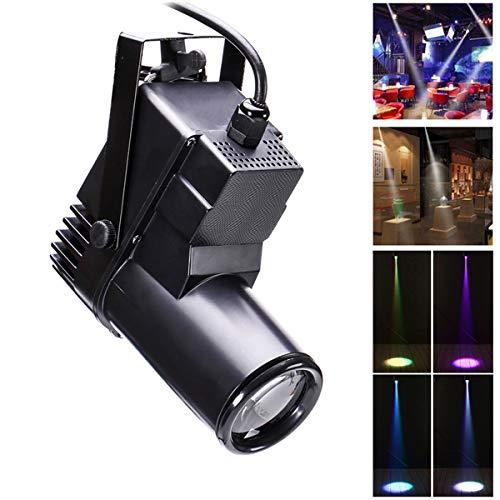 LED Bühnenlicht Pinspot Lichter 10W RGBW Scheinwerfer DMX512 Sound Auto Modi Lichteffekt für Spiegelkugel Home Party Show Club Disco UKing (1 Stück)