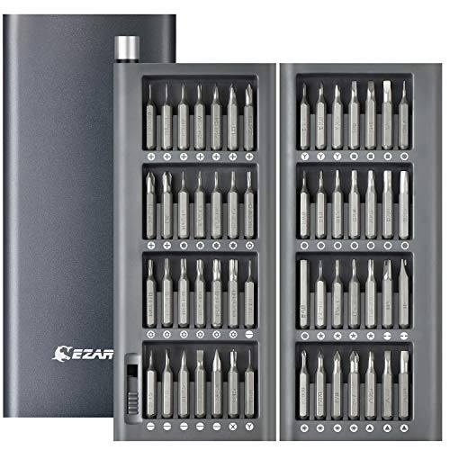 EZARC Präzision Schraubendreher Set, 57 in 1 Magnetische Präzision Reparatie-Tool mit Innovativen Metallgehäuse, Reparatur für iPhone, Macbook, Smartphone, iPad, PC, Laptop, Brillen, Uhren
