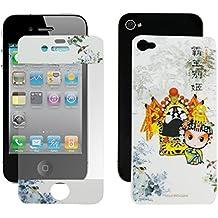 Pantalla LCD de la Guardia + china tradicional ópera de Pekín Volver pegatina para el iPhone 4 4S