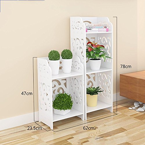 GRY Moderne Mode Wohnzimmer Schlafzimmer Lagerschränke Einfache Trapez Bodenregale Bücherregal,Paket A (Bücherregal-paket)