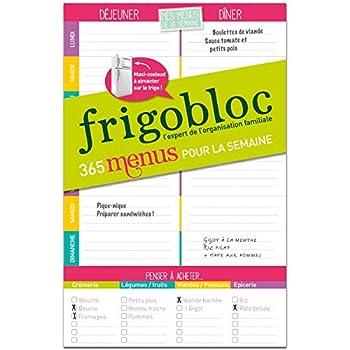 FrigoBloc Mes menus de la semaine: Un bloc maxi-aimanté pour organiser tous les repas de la semaine !