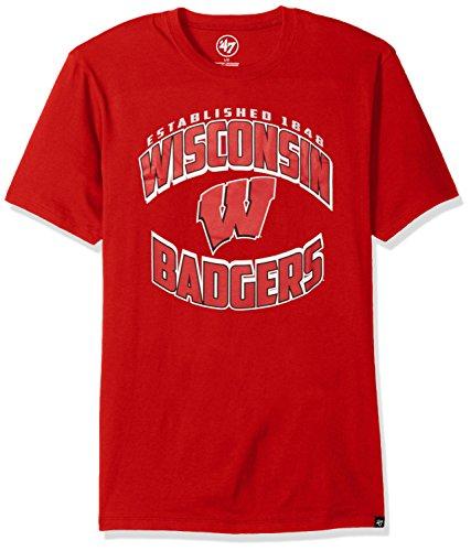 Diamant-herren-shirt (47 Brand NCAA Wisconsin Herren T-Shirt mit Diamant-Splitter, Größe M, Rot)