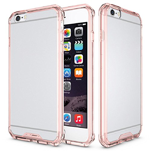 Ouneed® Hülle für iPhone 6 Plus/6s Plus 5.5 inch , Transparent Crystal Clear Hart Air Hybrid Fall Abdeckung für iPhone 6 Plus / 6s plus 5,5 Zoll (6/6s plus 5.5 inch, Klar) Rosa
