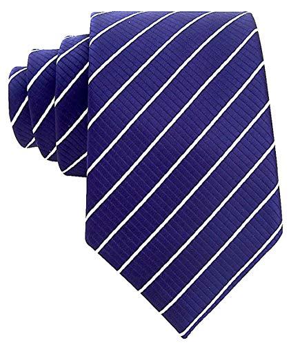 rawatte/Krawatte, gestreift, gewebt - Blau - ()