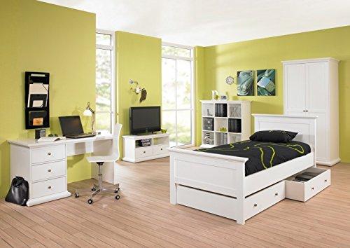 Tvilum Paris Komplettset Komplett Kinderzimmer Jugendzimmer Schlafzimmer  Weiß