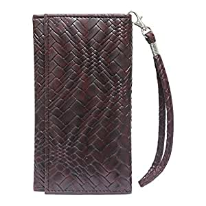J Cover A5 Bali Leather Wallet Universal Pouch Cover Case For Philips Sapphire Life V787 Black Brown