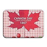 DEFFWBb Canada Day 1867 Indoor Outdoor Entrance Printed rug Floor Mats Shoe Scraper DoorFor Bathroom, Kitchen, Balcony, Etc 15.7' X 23.6' inch