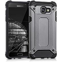 kwmobile Funda para Samsung Galaxy A5 (2016) - Case híbrida Diseño Transformer de TPU silicona - Hard Cover Diseño Transformer en antracita negro