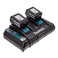 Makita 00032 Twin Charger with 18 V 4.0 A Batteries