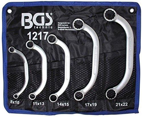 BGS 1217 | Starter- und Blockschlüssel-Satz | 8x10 - 21x22 mm | 5-tlg. Sd-starter