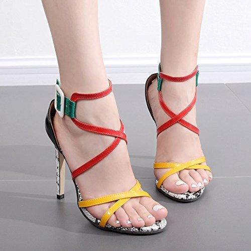 ZYUSHIZ High-Heel Frau Sandalen Hausschuhe Occidental im minimalistischen Stil 37EU