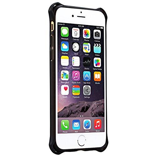 HB-Int 3 en 1 Coque Housse Etui pour Apple iPhone 6 / iPhone 6S (4.7 pouces), Dual Layer Plastic Coque Protecteur Cadre TPU Cases Souple Couverture Légère Slim Coque Anti Choc Anti-rayures Étui + Film Rose Rouge