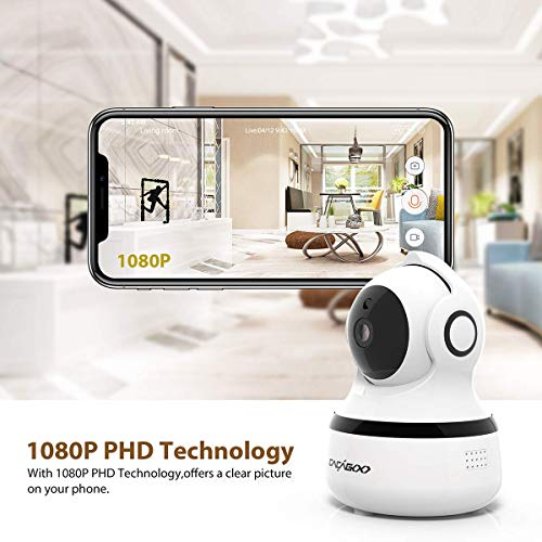 Cámara IP Wifi 1080P CACAG00, Cámara de Vigilancia Interior Inalámbrico 2.4G, almacenamiento en la nube, audio bidireccional, detección de movimiento con alarma, visión nocturna