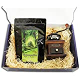 Kaffee Geschenk Set 250 g Brasilien ganze Bohne + Kaffeemühle