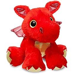 Aurora World 60858Sparkle cuentos Sizzle dragón de peluche, rojo, 30,5cm)