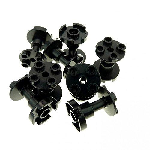 Bausteine gebraucht 8 x Lego System Stütze schwarz 2x2x2 mit durchgehendem Loch Säule Pfeiler Träger Classic Space Blacktron Set 6441 60036 6915 4851 3940b (Lego System Classic-sets)