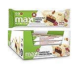 MaxiNutrition Proteinriegel weiße Schokolade-Erdnuss - Zuckerarmer Eiweißriegel für den Snack zwischendurch - 18 x 45 g Protein Riegel