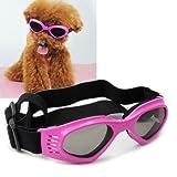 Namsan stilvolles und Fun Tier / Hundewelpen UV-Schutzbrillen Sonnenbrille wasserdichten Schutz Sun-Brille fuer Hunde-Rosa
