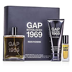 Gap Established 1969 Man Coffret: Eau De Toilette Spray 100ml/3. 4oz + Travel Spray 15ml/0. 5oz + Hair & Body Wash 100ml/3. 4oz 3pcs