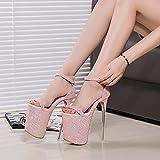 auftritt schuhe 20cm high heels cd - schuh - kristall - sandalen,pink