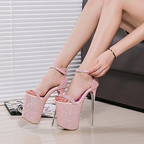 auftritt schuhe 20cm high heels cd - schuh - kristall - sandalen,pink Crystal Heels
