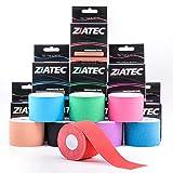 ZiATEC Pro Kinesiologie Tape | Elastisches und wasserfestes Sport-Tape - Physio-Tape - Therapie-Tape (4,5 m x 5 cm), viele Farben, aus 100% Baumwolle, Farbe:1 x beige