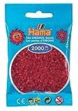 Hama Perlen 501-22 - Mini-Perlen, 2000 Stück Mittelrot