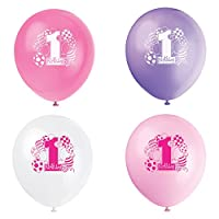 Pink 1st Birthday Balloon Party Supplies