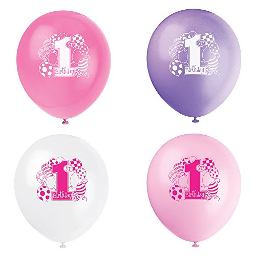 Rosa Luftballons Party (Childrens Party Supplies)
