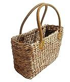 Einkaufstasche aus Wasserhyazinthe klein Korb Tasche Einkaufskorb Korbtasche