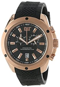 Caterpillar YQ19321129 - Reloj de pulsera hombre, caucho, color negro de CAT